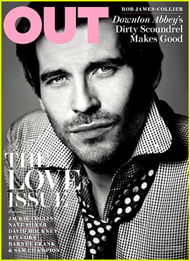 Downton Abbey's Rob James-Collier Covers 'Out' Magazine
