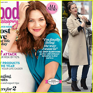 Drew Barrymore Covers 'Good Housekeeping' Magazine February 2013
