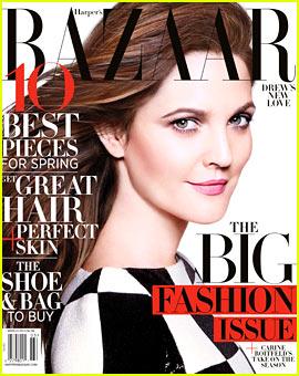Drew Barrymore Covers 'Harper's Bazaar' March 2013