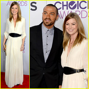 Ellen Pompeo & Jesse Williams - People's Choice Awards 2013