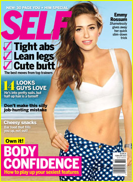 Emmy Rossum Covers 'Self' Magazine February