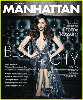 Emmy Rossum Glamorizes 'Manhattan' Magazine January/February 2013!