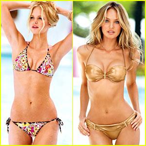 Erin Heatherton & Candice Swanepoel: Victoria's Secret Swim 2013 Catalogue Photos!