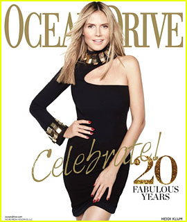 Heidi Klum Covers 'Ocean Drive' 20th Anniversary Issue