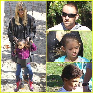 Heidi Klum & Martin Kirsten: Swinging Saturday with the Kids!