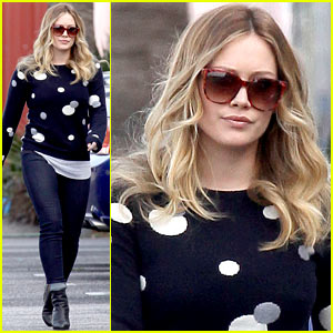 Hilary Duff: 'Raising Hope' Set!