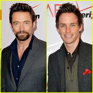 Hugh Jackman & Eddie Redmayne - AFI Awards 2013