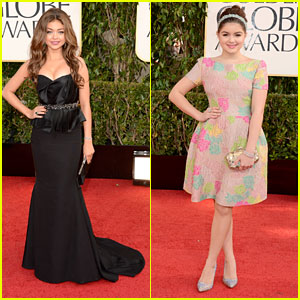 Sarah Hyland & Ariel Winter - Golden Globes 2013