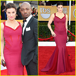 Idina Menzel & Taye Diggs - SAG Awards 2013 Red Carpet