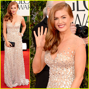 Isla Fisher - Golden Globes 2013 Red Carpet