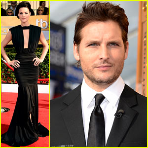Jaimie Alexander &#038; Peter Facinelli - SAG Awards 2013 Red Carpet