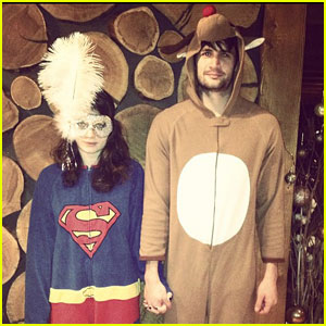 James Lafferty & Eve Hewson: Costumed & Holding Hands!