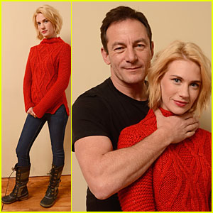 January Jones & Jason Isaacs: 'Sweetwater' Sundance Portrait Session!
