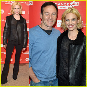 January Jones: Sheer Top at 'Sweetwater' Sundance Premiere!