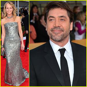 Javier Bardem & Helen Hunt - SAG Awards 2013 Red Carpet