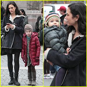 Jennifer Connelly: Agnes Visits 'Winter's Tale' Set