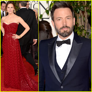 Jennifer Garner & Ben Affleck - Golden Globes 2013 Red Carpet