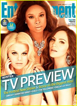 Jennifer Hudson & 'Smash' Ladies Cover 'Entertainment Weekly'