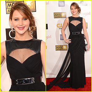 Jennifer Lawrence - Critics' Choice Awards 2013 Red Carpet