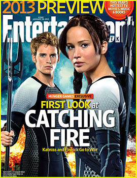 Jennifer Lawrence & Sam Claflin: Finnick Revealed on 'EW' Cover!