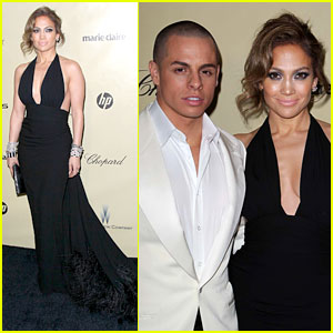 Jennifer Lopez &#038; Casper Smart - Golden Globes Parties 2013