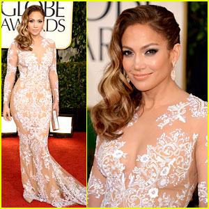 Gold Dress on Jennifer Lopez     Golden Globes 2013 Red Carpet   2013 Golden Globes