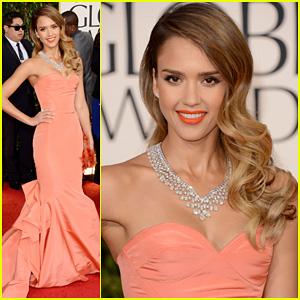 Jessica Alba - Golden Globes 2013 Red Carpet