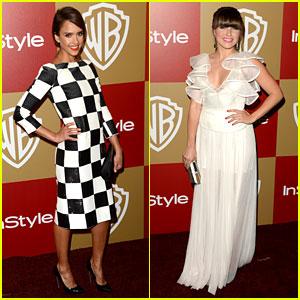 Jessica Alba & Sophia Bush - InStyle Golden Globes Party 2013