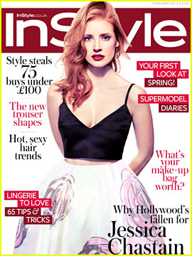 Jessica Chastain Covers 'InStyle UK' February 2013