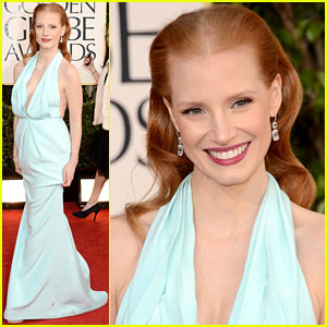 Jessica Chastain - Golden Globes 2013 Red Carpet