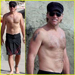 Jon Bon Jovi: Shirtless St. Bart's Stud!