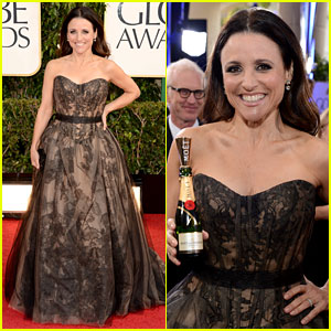 Julia Louis-Dreyfus - Golden Globes 2013 Red Carpet