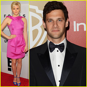 Justin Bartha & Georgia King - Golden Globes Parties 2013