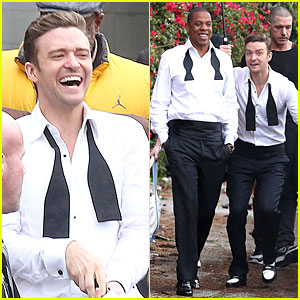 Justin Timberlake: 'Suit & Tie' Music Video Shoot with Jay-Z!