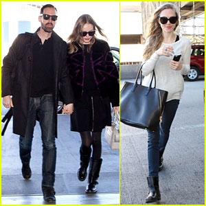 Kate Bosworth & Amanda Seyfried Take Off for Sundance!