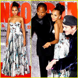 Kerry Washington & Jamie Foxx: 'Django Unchained' Paris Premiere!