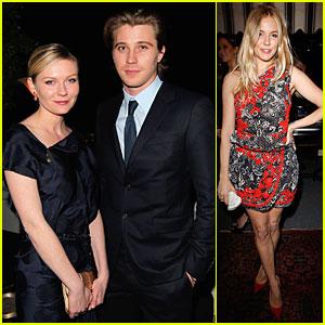 Kirsten Dunst & Garrett Hedlund: 'W' Magazine's Pre-Golden Globes Party