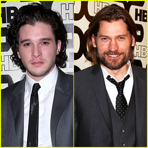 Kit Harington & Nikolaj Coster-Waldau - Golden Globes Party