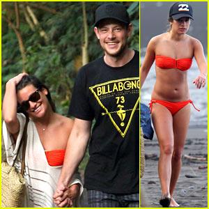 Lea Michele: Bikini Babe with Beau Cory Monteith!