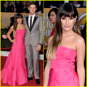 Lea Michele - SAG Awards 2013 with Cory Monteith!