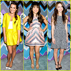 Lea Michele: TCA Fox All-Star Party with 'Glee' Cast!