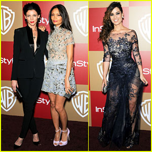 Liberty Ross & Thandie Newton - InStyle Golden Globes Party