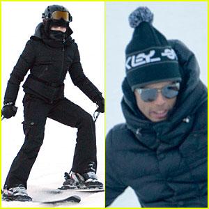 Madonna & Brahim Zaibat: Winter Sporting Couple!
