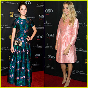 Marion Cotillard & Sienna Miller - BAFTA Tea Party 2013