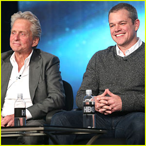 Matt Damon & Michael Douglas: 'Behind the Candlebra' TCA Panel!