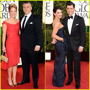 Max Greenfield & Matt LeBlanc - Golden Globes 2013 Red Carpet
