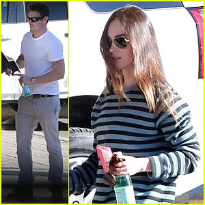 Megan Fox & Brian Austin Green: Car Dealership Stop!