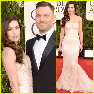 Megan Fox: Golden Globes 2013 Red Carpet with Brian Austin Green!
