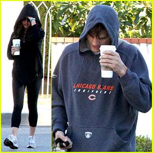 Mila Kunis & Ashton Kutcher: Doggy Duty Duo!