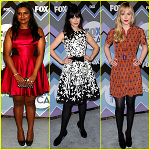 Mindy Kaling & Zooey Deschanel: Fox's TCA All-Star Party!